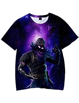 Unisex Camiseta Fortnite Estampado Tops Fortnite Game Scene T-Shirt Sudaderas de Sport Manga Corta Blusa Camisetas...