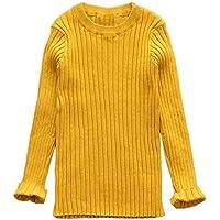 Tejido de Punto Acanalado Cálido Jersey de Suéter Pulóver,Lonshell Chicos Chicas Bebé Niños Niñas Punto Acanalado Suéter Suave Calentar para niños Suéter Jersey