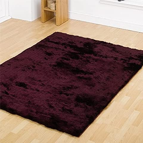 Mystery Grand Plum Shag Rug Rug Size: 110cm x 60cm (3 ft 7.5 in x 1 ft 11.5 in) by Flair Rugs