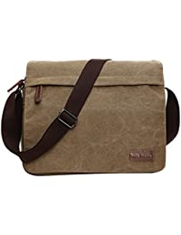de42c498c3 SUPA MODERN® Canvas Messenger Bag Shoulder Bag Laptop Bag Satchel Bag  Bookbag School Bag Working