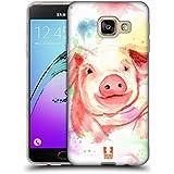 Head Case Designs Cochon Aquarelle D'animaux Étui Coque en Gel molle pour Samsung Galaxy A3 (2016)
