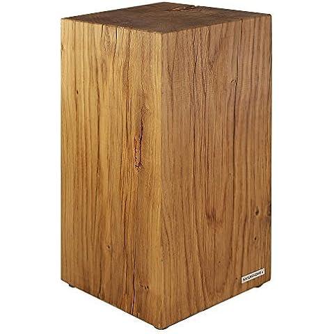 NATUREHOME Albero tronco Sgabello legno massello Natura oleato Rovere