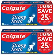 Colgate Strong Teeth Toothpaste with Amino Shakti - 1000gm (500gX2) Saver Pack , India's No.1 Toothp