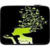 """Snoogg Womens Brain 2488 15"""" Inch To 15.5"""" Inch To 15.6"""" Inch Laptop Netbook Notebook Slipcase Sleeve Soft Case Cover Bag Notebook / Netbook / Ultrabook Carrying Case For Macbook Pro Acer Asus Dell Hp Sony Toshiba"""