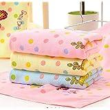 Upunitoz™ Unicorn Design Rainbow Kids Towel - Super Soft Microfiber Kids Bath Towel Set - (Size 19*35 inch) (Pink, Sky, Yello
