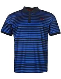 Slazenger Hombre Fine Rayas Polo Camisa Camiseta Ropa Deporte Entrenar Vestir