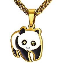 MESE London Pandabär Halskette 18 Karat Vergoldet  The Pure Soul  in Luxus  Geschenkbox 510b566501