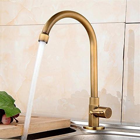 Modylee Cucina rubinetti in ottone antico bagno lavabo cucina lavandino rubinetto in ottone rubinetto cocinaHJ-0186F di rotazione di 360 gradi