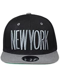 Original Snapback (one size, New York City Schwarz / Grau) + Original MY CHICOS Sicker