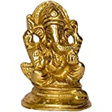 [Sponsored]Craftspark Lord Ganesha God Of Beginning And Wealth Gifts Brass Metal Statue Idol Moorti Puja Vastu Showpiece Figurine Gift For Home Decor / Religious Murti Pooja For Mandir / Temple (9 Cm X 12 Cm X 6 Cm, 250)