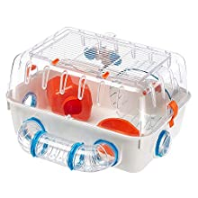 Ferplast Combi 1 Hamsters and Small Rodents Cage, White, 40.5 x 29.5 x 22 x 5 cm