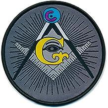 50 mm Masonic G Mason Winkel und Zirkel Freimaurer Patch Aufbügler Aufnäher 0805 A