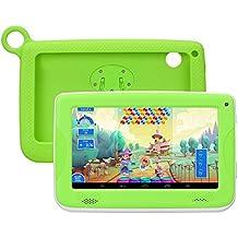 7 Pulgadas Tablet para Niños QIMAOO Android Tablet Infantil Tablet PC 8 G ROM + 32G SD Tarjeta de Memoria Android 4.4 Quad Core 1.2 GHz con Funda de Silicona Niños Regalo