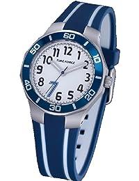 TIME FORCE Reloj De Pulsera Tf-3386B02 Cadete Acero 50M Cristiano Ronaldo AZUL