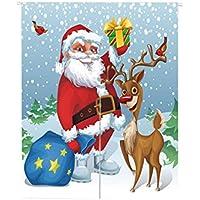 Comparador de precios OUNONA Cortina de puerta para Navidad con enlace de expansión Regalo de Navidad temático para sala de estar Habitación para niños 85x150 cm - SDL-6 - precios baratos
