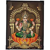 Goddess Lakshmi Photo Frame ( 29 Cm X 22.5 Cm X 1 Cm ) / Wall Hangings For Home Decor And Wall Decor / Photo Frames For Posters And Thanksgiving Wall Decorations / Laxmi Lakshmi Kuber Kubera Sreedevi Art Work For Paintings And Wall Stickers / God Gods And