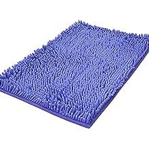 Shag-style alfombra de baño, de chenilla, antideslizante, absorbente, Shaggy Rugs, 40 x 60 cm, violeta, 50x80cm