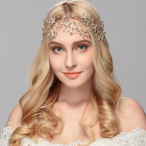 F&HY&L Diademi da sposa cristallo fascia nastro gioielli high-end occidentale sposa accessori sposa