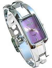 ufengke® elegante lila rechteck zifferblatt stahlband dress geschenk armbanduhren mädchen/damen-armband-armbanduhr