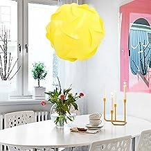 DIY Lámpara Sombra Puzzle,AZXES, Lámpara de Techo del Puzzle IQ Tulipa,Lámpara colgante Moderno del Diametro 25cm,Color Amarillo