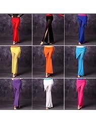 Práctica de la danza de vientre de mujer pantalones (incluyendo bufandas de la cadera) , m , rose red