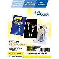 100 Blatt LO-A4-T175-100 A4 Overheadfolie (OHP Transparentfolie Transparentpapier) für s/w Laserdrucker und Kopierer