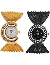 Capture Fashion Multicolour Analog Watch - Pack of 2