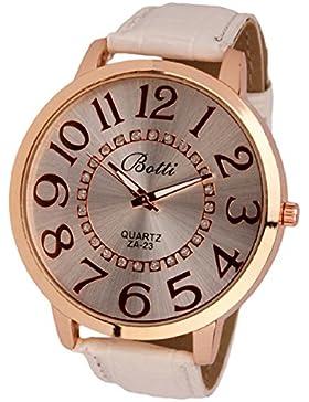 Amonfineshop (TM) amonfineshop-1024Amonfineshop Damen Armbanduhr, Lederband