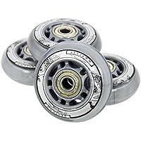 Ruedas pasa patines en línea patines de ocio de poliuretano 64mm/82A, 4unidades + rodamientos ABEC7, 8 unidades, Nils