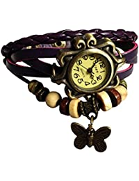 Glowish New Arrival Special Collection Butterfly Dori Festive Season Special Analog Dial Purple Leather Dori Strap...