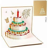 Tarjeta de felicitación de cumpleaños para mamá especial, tarjeta de felicitación 3D, el mejor regalo para el cumpleaños de la madre, regalo para el día de la madre 02 dorado