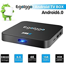 S95X Android 6.0 TV Box Amlogic S905X 4 núcleos ARM Cortex-A53, con 1 GB + 8 GB Wifi Smart TV Box