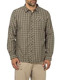 VAUDE Hemd Men's Landruk Long Sleeve Shirt - Camiseta / Camisa deportivas para hombre, color gris, talla 2xl