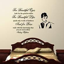 Wondrous Wall Art Wandtattoo Audrey Hepburn For Beautiful Eyes Fur Wohnzimmer Schlafzimmer Flur