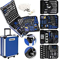 Masko® 969 tlg Werkzeugkoffer Werkzeugkasten Werkzeugkiste Werkzeug Trolley ✔ Profi ✔ 969 Teile ✔ Qualitätswerkzeug Blau