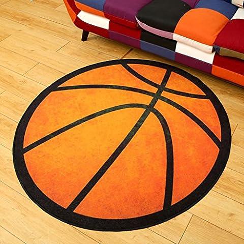 Redonda alfombra creativa de la personalidad creativa de la manera del baloncesto ( Tamaño : 200cm