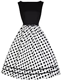 Lindy Bop 'Audrey' Hepburn Millésime 50's Camaïeu Pois Robe De Swing