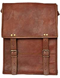 Crafat Vintage Genuine Leather Office Men's Laptop Messenger Bag (10x13)