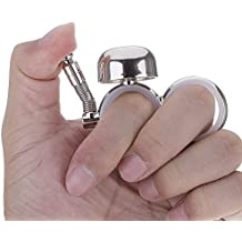 DDU(TM)neue outdoor - finger passend klingel dekompression hand spielzeug für läufer Kinder Spielzeug Silber