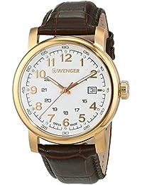 WENGER Herren-Armbanduhr WENGER URBAN CLASSIC 01.1041.118 Analog Quarz Leder WENGER URBAN CLASSIC 01.1041.118