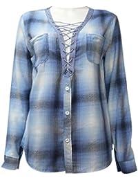 9a39dd8956658 ISSHE Blusa Gasa Blusas Manga Larga Para Dama Camisas de Mujer Blusones  Camisetas Largas Juveniles Top