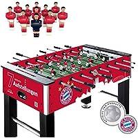 Live Kicker Heimspiel FC Bayern München Tischkicker, Rot, 74 x 140 x 88.5 cm