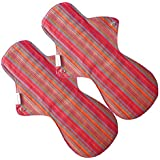 Eco Femme - Vibrant Range - Night Pad - Pack Of 2 - Reusable Sanitary Pads/Cloth Menstrual Pads/Washable Cloth...