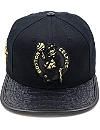 Pro Standard Mens NBA Boston Celtics Logo Buckle Hat Black W/Pin