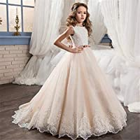Vestido de niña princesa Vestido de boda para niños Chicas de encaje Flor  de flor caliente f1e2db7db4d