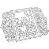 Rrimin 2 pcs Love Greeting Metal Cutting Dies Stencil Scrapbooking Embossing (No.13)