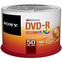 Sony Dvd-R 4,7 Gb / 120 Min / 16X Tarrina (50 Discos) De Inyección De Tinta Para Imprimir, Blanca Del Mismo Tamaño De Superficie