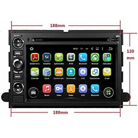 7 pulgadas Coche Radio con GPS Quad Core Android 5.1.1 Lollipop para Ford Fusion(2006-2009) Explorer/Edge(2006-2010) Expedition(2007-2011) Escape(2008-2009) F150(2004-2008) F250(2005-2013)