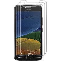 [3 Stück] Hepooya Panzerglas für Moto G5 Schutzfolie, Displayschutzfolie für Motorola Moto G5, 9H Härtegrad Gehärtetem Glas, 99% Transparenz Full HD, Anti-Kratzen, Einfaches Anbringen