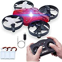 Price comparsion for Kids Toys Mini Drone, ONIPU Remote Control Quadcopter RC Flying Toys 2.4GHZ 4CH 6Axis Altitude Hold 3D Flips Headless Mode with LED Lights Funny Gifts Cool Gadgets for Boys Girls Kids Teenagers Adults